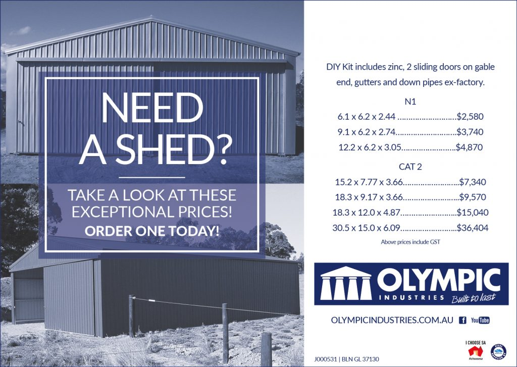 Need a Shed - Olympic Industries