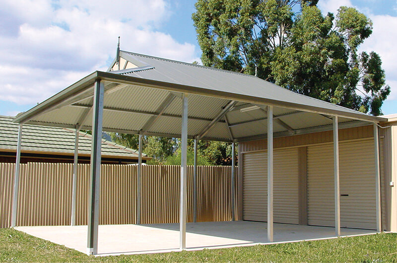 Dutch Gable Freestanding Carports Adelaide - Olympic Industries